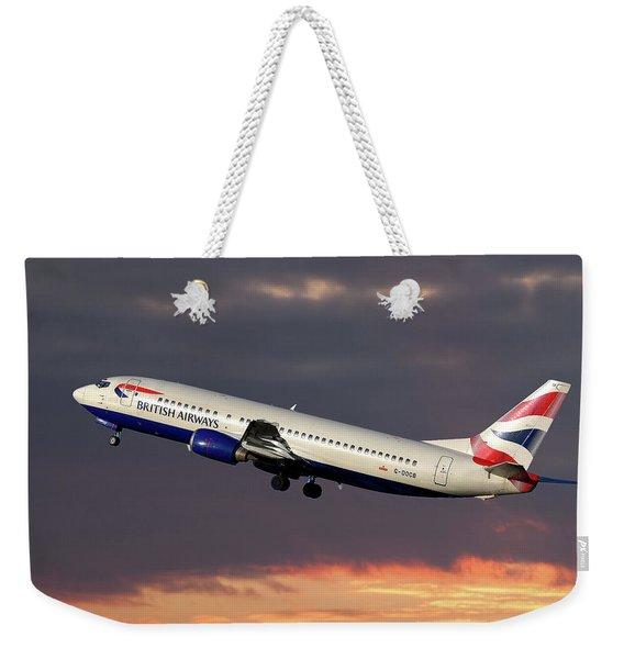 British Airways Boeing 737-400 Weekender Tote Bag