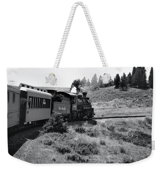 Weekender Tote Bag featuring the photograph 25 Miles Per Hour by Ron Cline