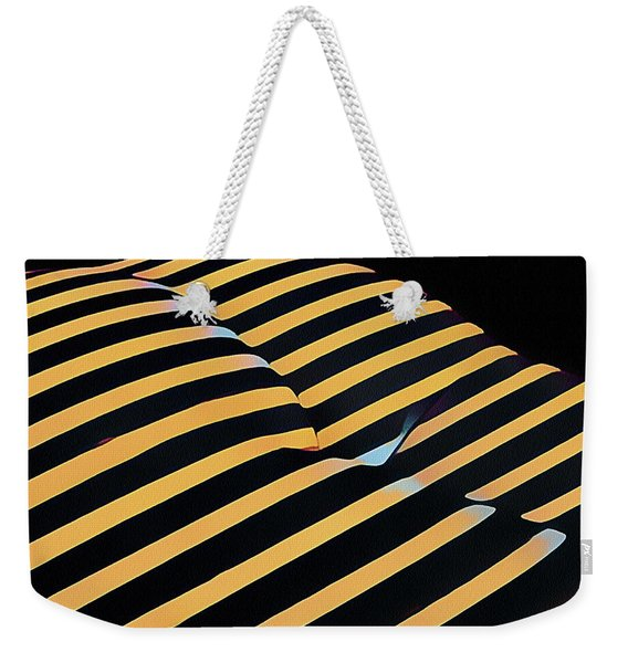2612s-ak Abstract Rear Butt Bum Thighs Zebra Striped Woman In Composition Style Weekender Tote Bag