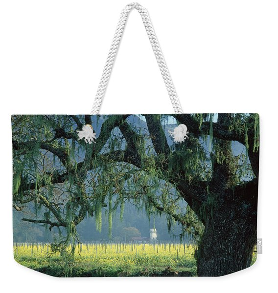 2b6319 Mustard In The Oaks Sonoma Ca Weekender Tote Bag