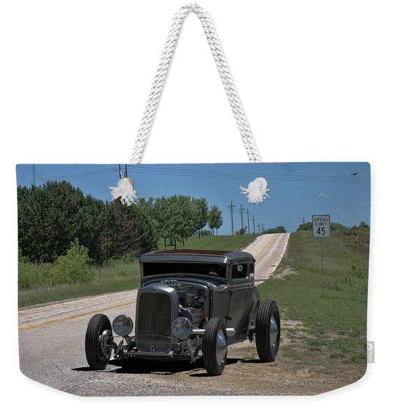 1931 Ford Coupe Hot Rod Weekender Tote Bag