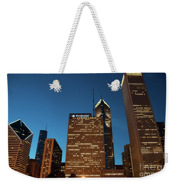 A View From Millenium Park At Dusk Weekender Tote Bag