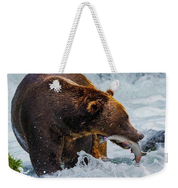 Alaska Brown Bear Weekender Tote Bag
