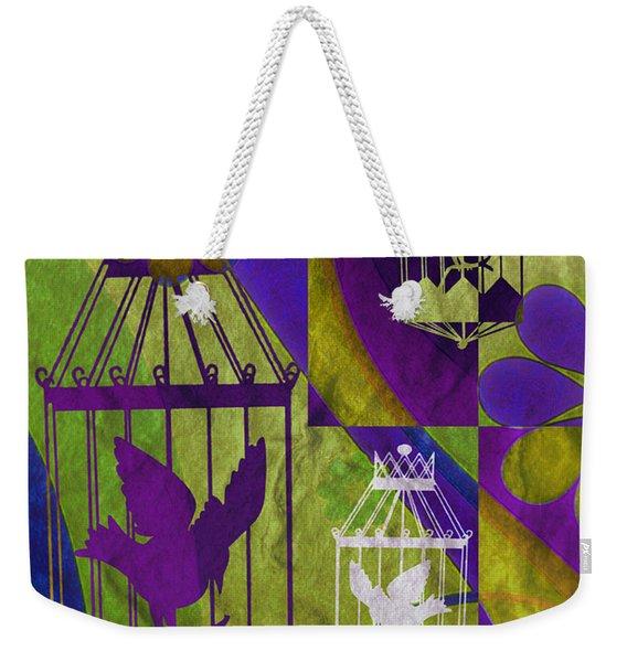 3 Caged Birds Weekender Tote Bag