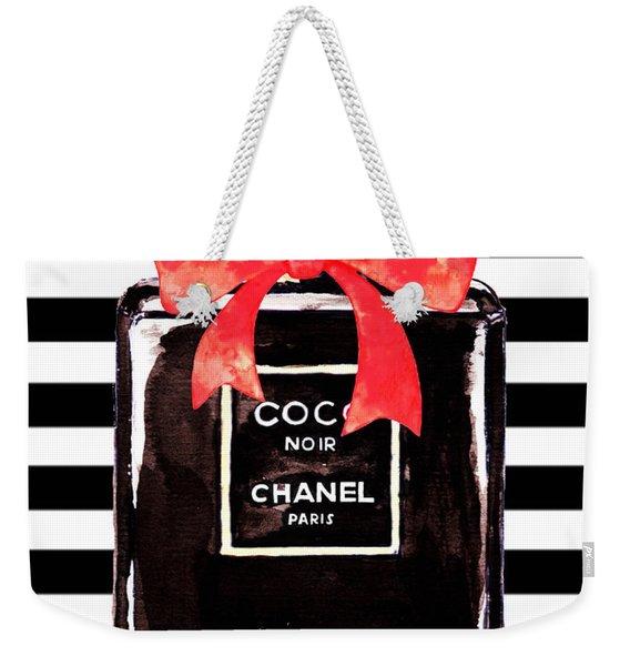 Chanel Noir Perfume Weekender Tote Bag