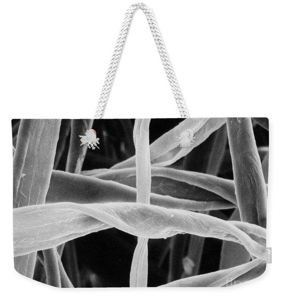Cotton Fibers Weekender Tote Bag