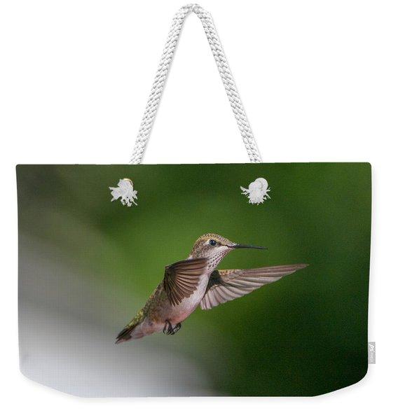 Female Ruby Throated Hummingbird Weekender Tote Bag