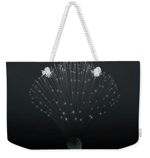 Fiber Optics Close Weekender Tote Bag