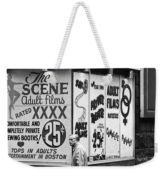 Film Homage Hard Core 1979 Porn Theater The Combat Zone Boston Massachusetts 1977 Weekender Tote Bag