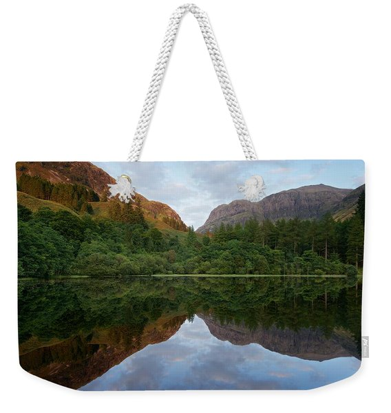 Golden Light In Glencoe Weekender Tote Bag