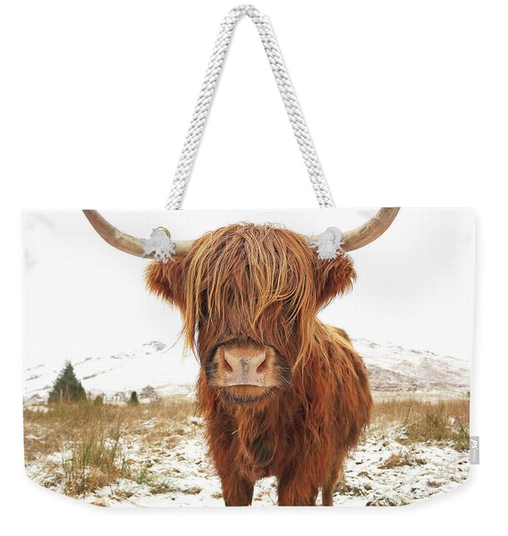 Highland Cow Weekender Tote Bag