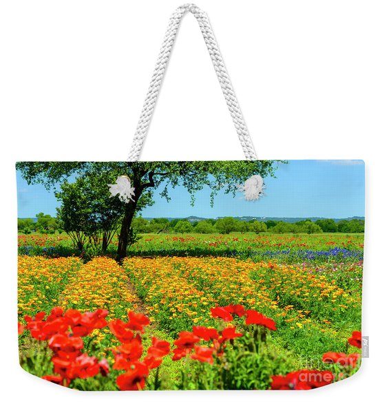 Hill Country In Bloom Weekender Tote Bag