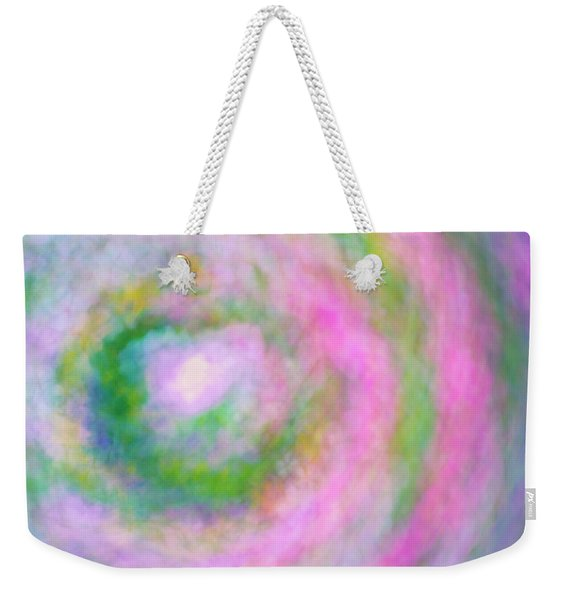 Weekender Tote Bag featuring the photograph Impression Series - Floral Galaxies by Ranjay Mitra