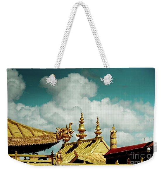 Lhasa Jokhang Temple Fragment Tibet Artmif.lv Weekender Tote Bag