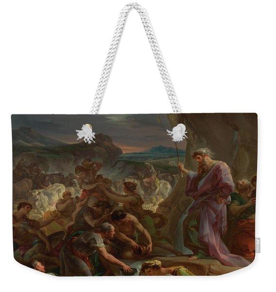 Moses Striking The Rock Weekender Tote Bag