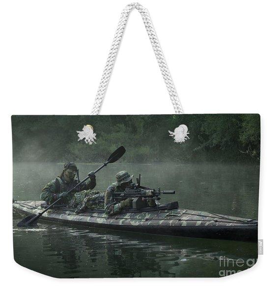 Navy Seals Navigate The Waters Weekender Tote Bag