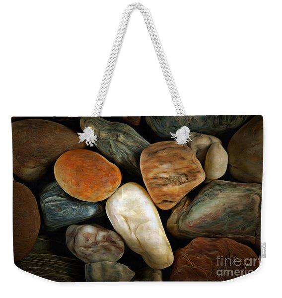Pebble Stones Weekender Tote Bag