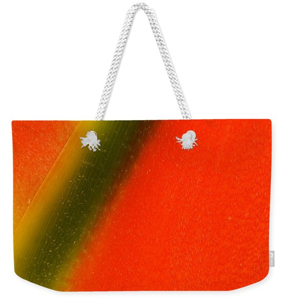 Photograph Of A Lobster Claws Heliconia Weekender Tote Bag