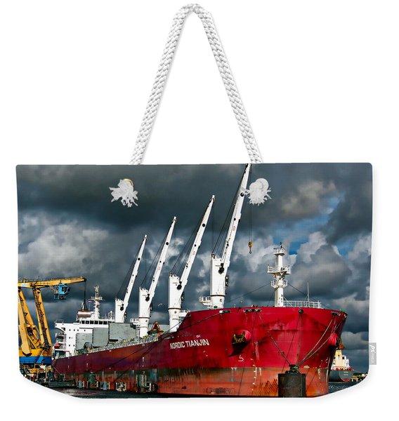 Port Of Amsterdam Weekender Tote Bag