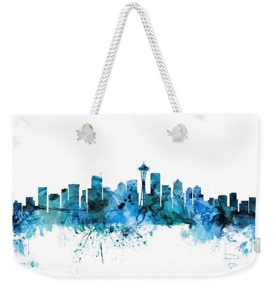 Seattle Washington Skyline Weekender Tote Bag