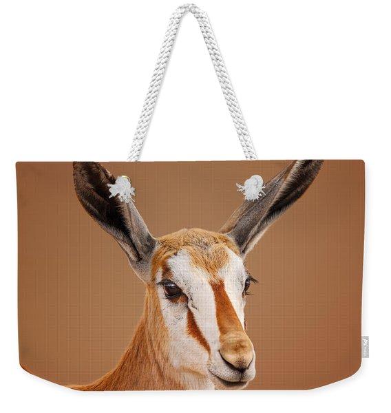 Springbok Portrait Weekender Tote Bag