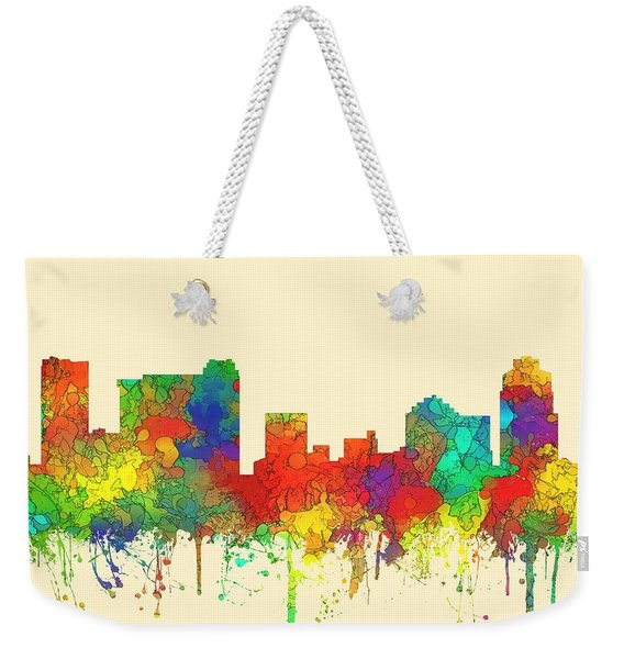 St Petersburg Florida Skyline Weekender Tote Bag