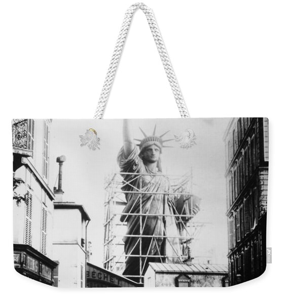 Statue Of Liberty, Paris Weekender Tote Bag