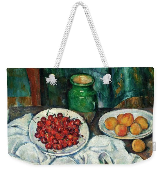 Still Life With Cherries And Peaches Weekender Tote Bag