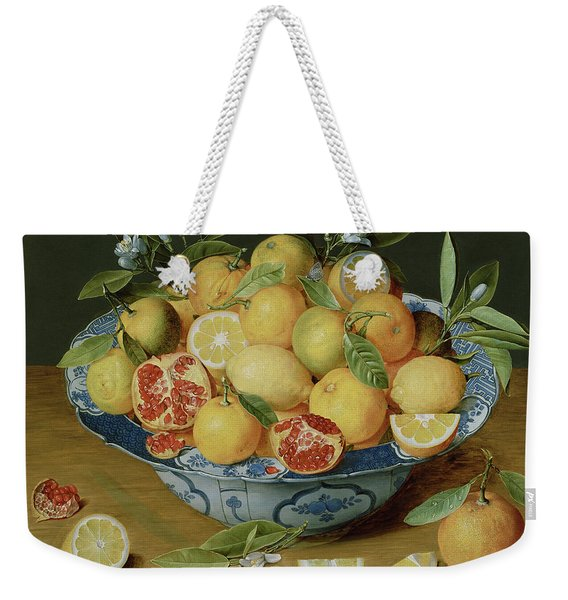 Still Life With Lemons, Oranges And A Pomegranate Weekender Tote Bag