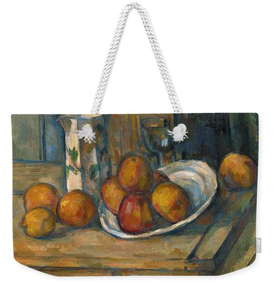 Still Life With Milk Jug And Fruit Weekender Tote Bag