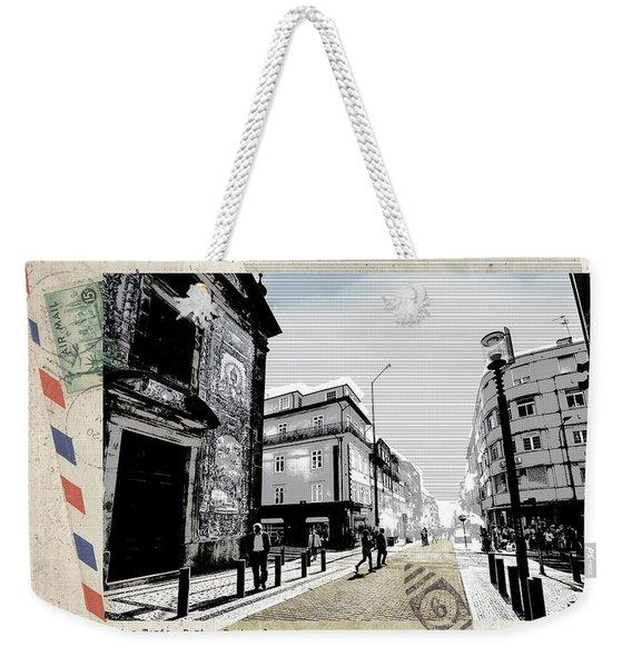 stylish retro postcard of Porto  Weekender Tote Bag
