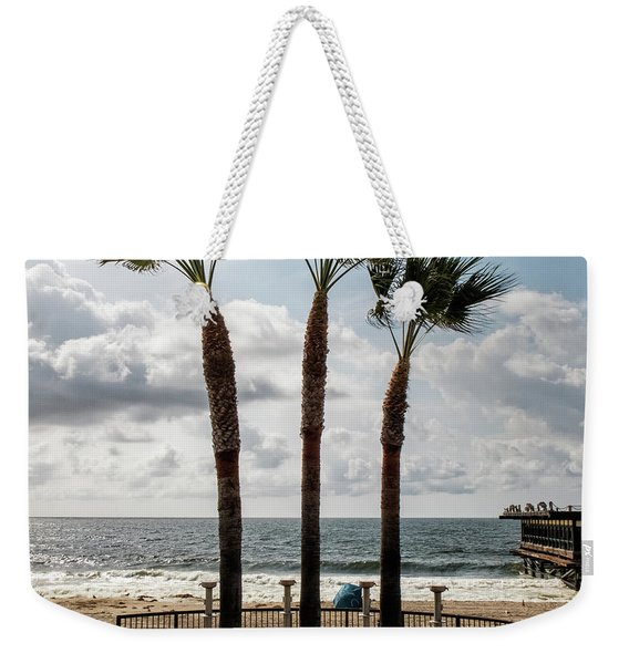 Weekender Tote Bag featuring the photograph 3 Trees by Eric Lake