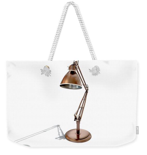 Vintage Copper Desk Lamp Weekender Tote Bag