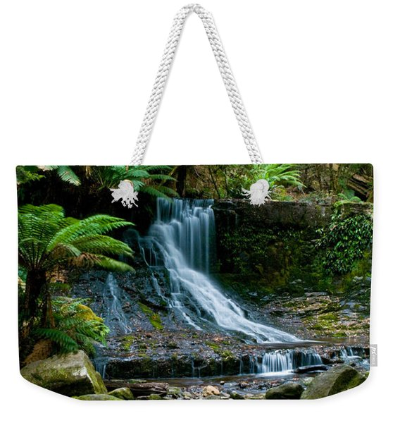 Waterfall In Deep Forest Weekender Tote Bag