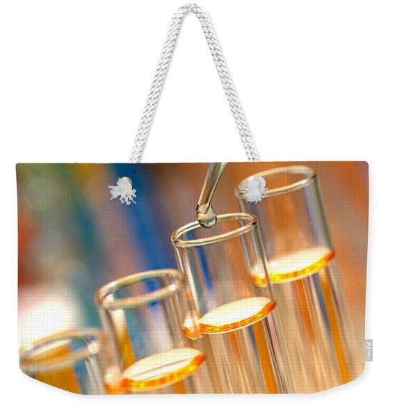 Scientific Experiment In Science Research Lab Weekender Tote Bag