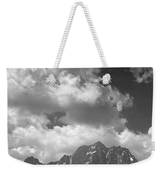 304638 Clouds Over Mt. Stuart Bw Weekender Tote Bag