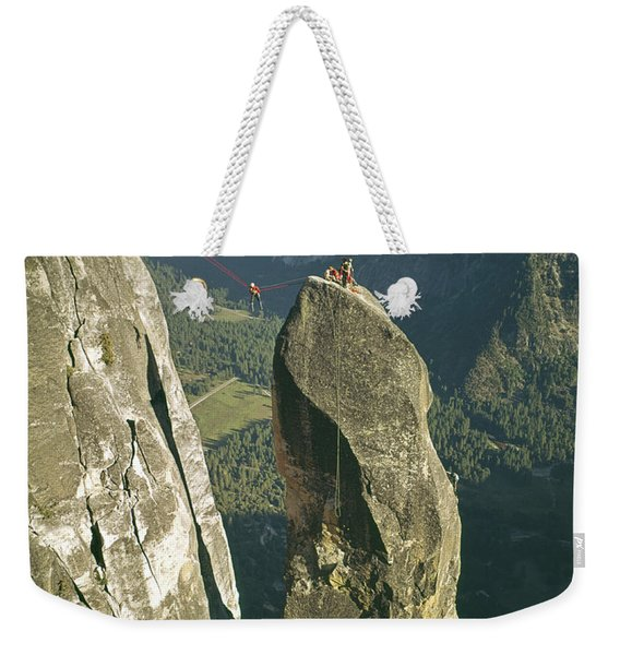 306540 Climbers On Lost Arrow 1967 Weekender Tote Bag