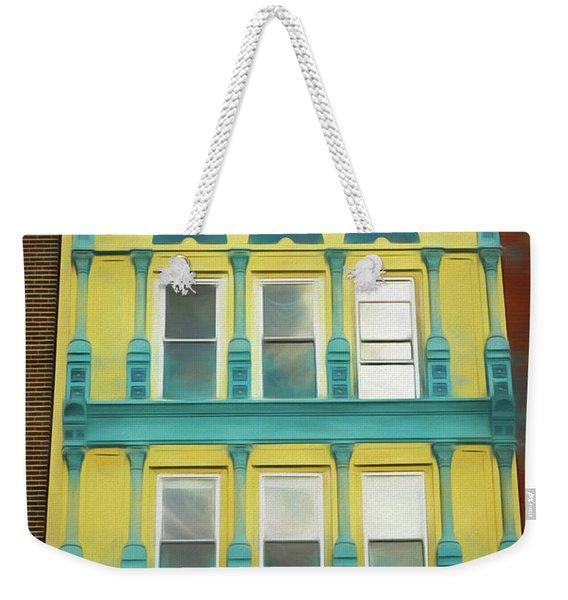 Weekender Tote Bag featuring the photograph 315 Main  by Nancy De Flon