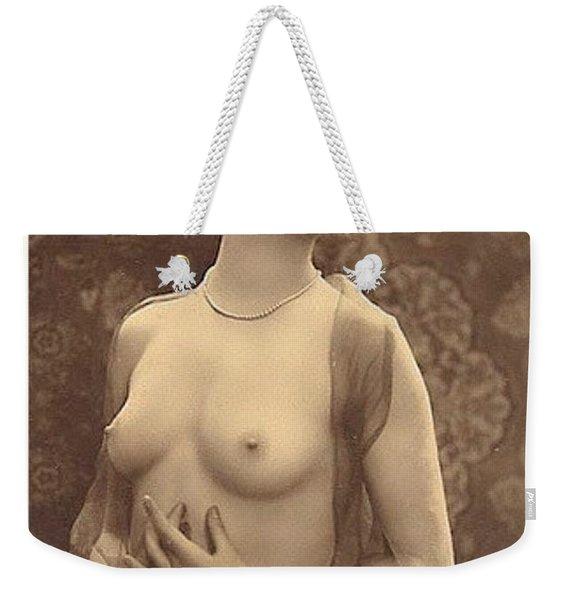 Digital Ode To Vintage Nude By Mb Weekender Tote Bag