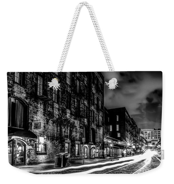 Savannah Georgia Waterfront And Street Scenes  Weekender Tote Bag