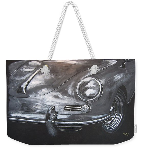 Weekender Tote Bag featuring the painting 356 Porsche Front by Richard Le Page