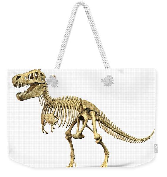 3d Rendering Of A Tyrannosaurus Rex Weekender Tote Bag