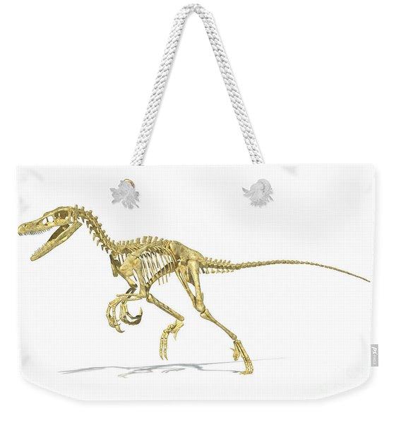 3d Rendering Of A Velociraptor Dinosaur Weekender Tote Bag