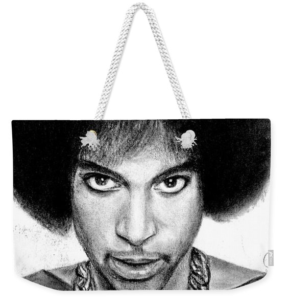 3rd Eye Girl - Prince Charcoal Portrait Drawing - Ai P Nilson Weekender Tote Bag