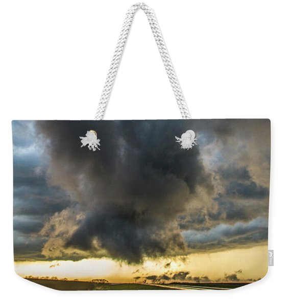 Weekender Tote Bag featuring the photograph 3rd Storm Chase Of 2018 050 by NebraskaSC
