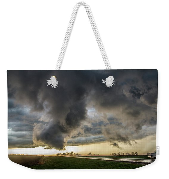 Weekender Tote Bag featuring the photograph 3rd Storm Chase Of 2018 051 by NebraskaSC