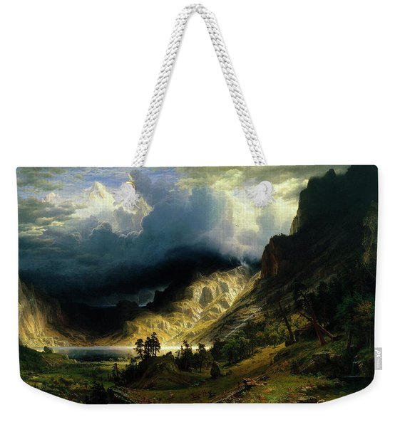 A Storm In The Rocky Mountains Weekender Tote Bag