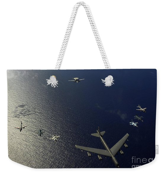 A U.s. Air Force B-52 Stratofortress Weekender Tote Bag