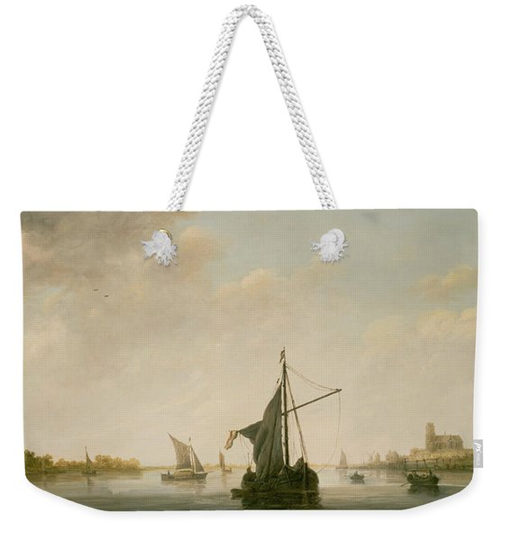 A View Of The Maas At Dordrecht Weekender Tote Bag