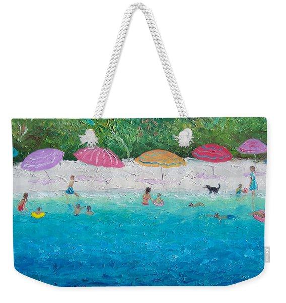 Beach Umbrellas Weekender Tote Bag